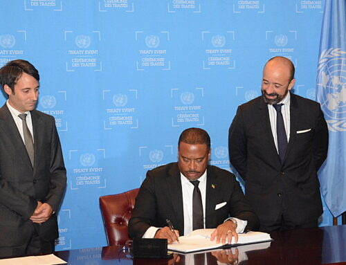 St. Kitts and Nevis signs the Prohibition of Nuclear Weapons Treaty