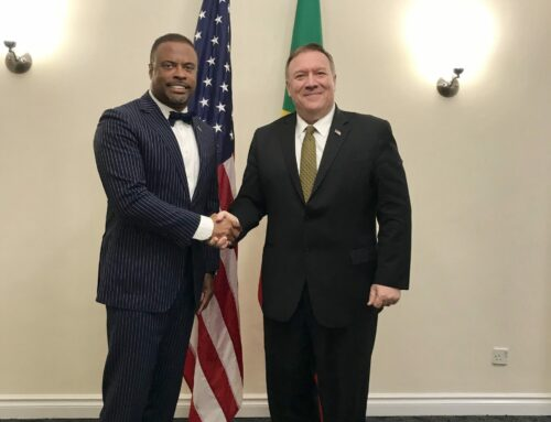 Bilateral Meeting between Minister Brantley  and Secretary Pompeo