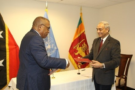 Saint Kitts and Nevis establishes diplomatic relations with Sri Lanka
