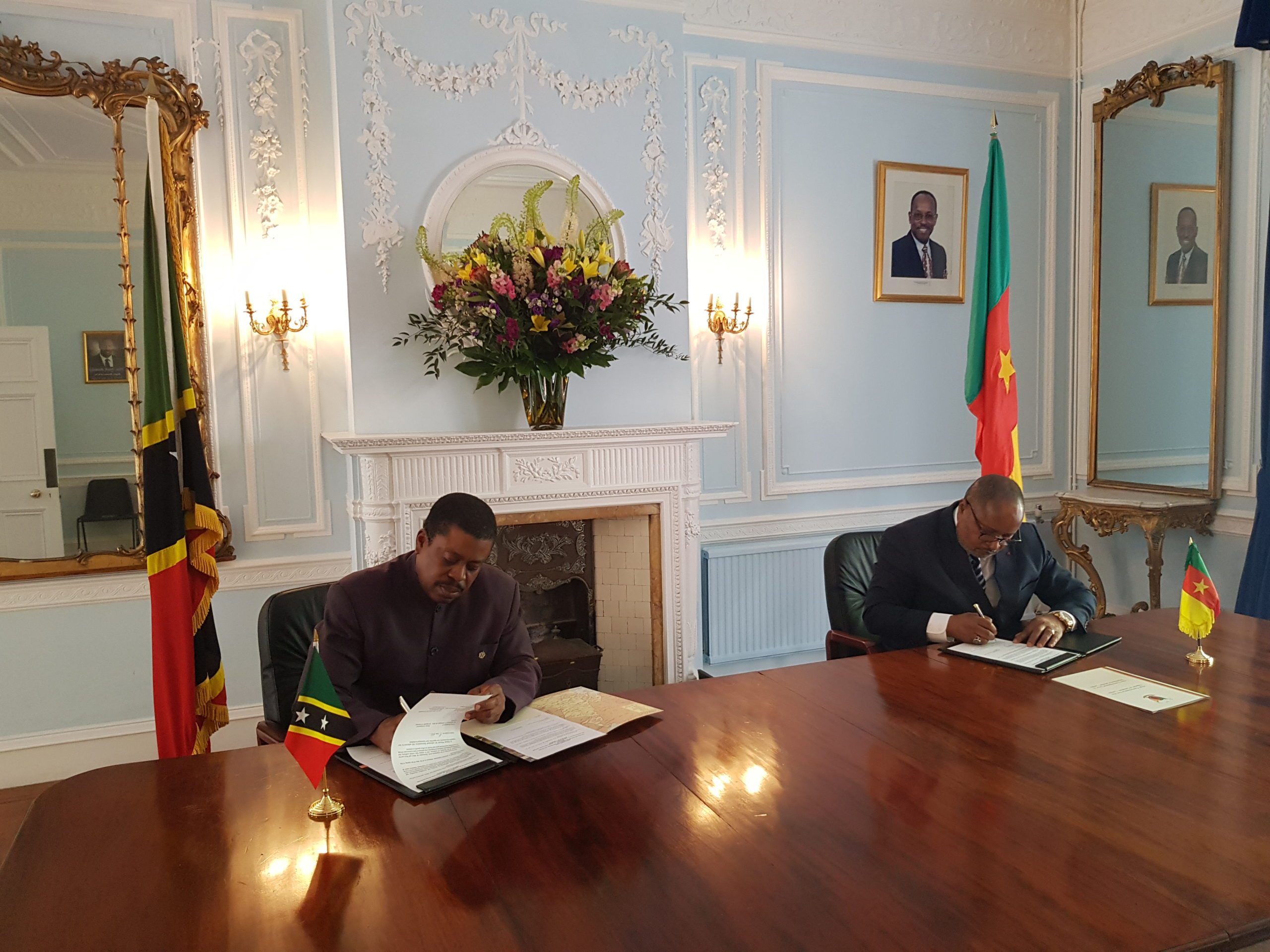 Saint Kitts and Nevis formalizes relations with the Republic of Cameroon